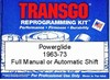 Powerglide transmission performance reprogramming kit™