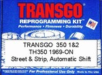 TH350 performance reprogramming kit 1969-80. Automatic shift.