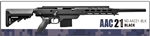 Action Army Full Metal AAC-21 Gas Sniper Rifle Airsoft Gun with Collapsible Stock (Black)