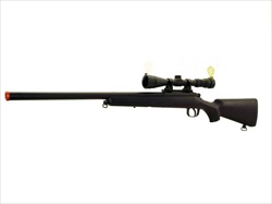 AGM MP001 Sniper Rifle VSR-10 BOLT ACTION Airsoft Sniper Gun, Black With Scope