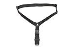 Aim Sports One Point Bungee Rifle Sling with Steel Clip (Black)