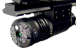 AIM Sports Pistol Rifle Green Laser with RIS mount