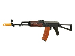 APS AK74 Real Wood Airsoft Gun (Folding Stock)