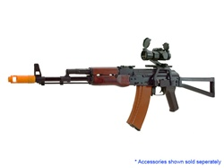 APS AK74 Real Wood Airsoft Gun with Folding Stock