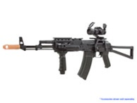 APS AK74 Tactical Rail System Airsoft Gun Black (Folding Stock)