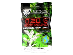 MetalTac 0.2g BB Biodegradable 6mm Airsoft 5,000 Rounds