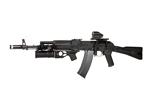 Dboys Full Metal AK-74M Airsoft Electric Gun with Lancer Tactical GP-25 Grenade Launcher with 40MM Grenade Shell Package
