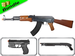 Explorer Bundle with DE M900 AK + M305-R Spring Pistol + DE M58B Shotgun