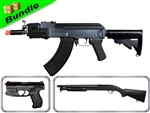 Explorer'S Deception Bundle with DE M901B AK + M305-R Spring Pistol + DE M58A Shotgun