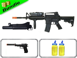 Terminal Bundle with Dboys M4 and Grenade Launcher + Suppressed M22 Spring Pistol + 4000 0.12g BB Rounds