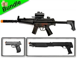 Breecher Bundle with CM023 Electric Sub-Machine Gun with M56B Shell-Loading Pump-Action Shotgun and M27 Tactical Slide Lock Spring Pistol