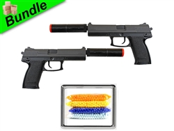 Twin SOCOM Edition Bundle with Dual M23 Spring Pistols and 5000 Rounds of 0.12g BBs