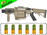 BOOM! Bundle with ICS GLM Rotating Grenade Launcher + Six 40MM Grenade Slug Shells