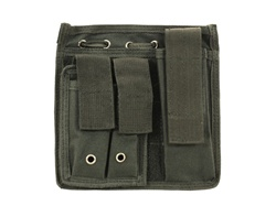 MetalTac MOLLE Admin Panel with Integrated Pouches (Black)