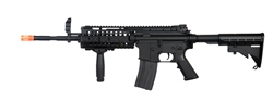 CYMA Full Metal M4 S-System Electric Airsoft Gun with Metal Version 2 Gearbox, RIS Handguard, Adjustable Stock, and Flip-Up Front and Rear Iron Sight