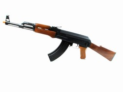 Cyma AK-47 Metal Gear Box Airsoft Gun CM028 - Wood