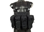 MetalTac 7-Pouch Chest Rig System (Black)
