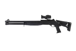 DE M186A Tactical Pump Action  Airsoft Shotgun with Red Dot Scope