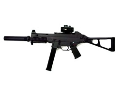 DE UMP Silencer & Scope Package Airsoft Sub machine gun