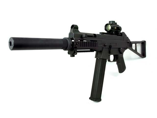 machine guns with silencers