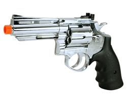 HFC 4 inch Barrel Silver Chrome Gas Revolver Airsoft Gun