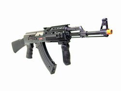 JG Tactical RIS AK-47 Airsoft Electric Gun with Folding Vertical Grip (Black)