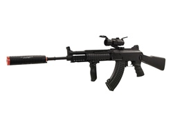 JG AK47 RAS Socmod II Suppressed Full Metal Airsoft Gun