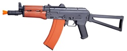 JG AK74U Blow Back Full Metal with Real Wood Airsoft Gun JG-1011