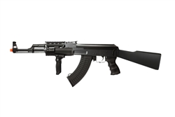 JG Tactical AK47 JG-6809 Fully Automatic Polymer Body Airsoft Electric Gun with Full Stock and Folding Vertical Grip
