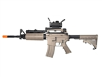 JG M4 A1 Enhanced Dark Earth Tan Version Airsoft Electric Gun [JGF6604-DE] with Z-Rail Red Dot Package