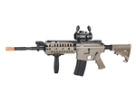 JG M4 S-System Dark Earth Tan Enhanced Version Airsoft Electric Gun with 1x30 Red Dot & Vertical Grip Package