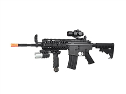 JG M4 S-System Special Op CQB w/ Flashlight Grip & Red Dot Sight