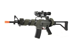 "JG M733-F Metal Gear Box Enhanced Upgraded Airsoft Electric Gun ""Rebel"" Package with 3 Point Woven Sling"