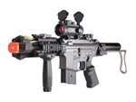 "JG M4 ""The Tank"" Lipo Ready Airsoft Electric Gun with 1x30 Red Dot and Vertical Grip Package"