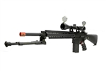 JG M4 SR-25 Full Metal Airsoft Electric Gun with Scope and Metal Folding Bipod Package JG-F6652
