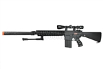 "JG M4 SR-25 Full Metal Airsoft Electric Gun [JG-FB6652] with 11.5"" QD Suppressor Unit and Vertical Foregrip with Scope and Bipod Package"