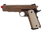 KWA M1911 MKII PTP Professional Training Pistol Airsoft Gas Blow Back Pistol (Tan)