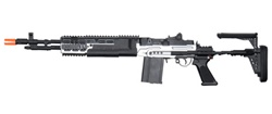 KART M14 EBR Airsoft Electric Gun AEG (Silver Color) M14 Ebr Silver