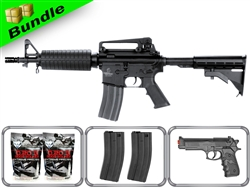 Lancer Tactical Combat Ready M4 CQB Airsoft Gun LT-01B with 10,000 Rd BB, 3 Magazines, P698 Pistol + Free Shipping
