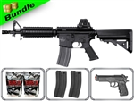 Lancer Tactical Airsoft Gun Player's Package M4 CQBR MK18 LT-02B with 10,000 Rd BB, 3 Magazines, P698 Pistol + Free Shipping