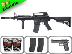 Lancer Tactical Airsoft Gun Player's Package M4A1 RIS LT-04B with 10,000 Rd BB, 3 Magazines, P698 Pistol + Free Shipping