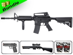 Lancer Tactical Airsoft Gun Player's Package 2.0 - M4A1 RIS LT-04B with M47A Shotgun, P698+ Pistol, 10,000 Rd BB + Free Shipping