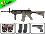 Lancer Tactical Airsoft Gun Player's Package 2.0  M4 S-System LT-05B with M47 Shotgun, P698+ Pistol, 10,000 Rd BB + Free Shipping