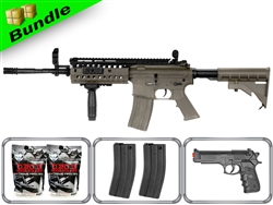 Lancer Tactical Airsoft Gun Player's Package M4 S-System LT-05T with M757 Pistol, 10,000 Rd BB + Free Shipping
