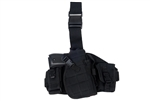 Lancer Tactical Drop-Leg MOLLE Thigh Rig with Holster and Pouches (Black)