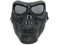Full Face Skull Airsoft Protection Mask (Black)