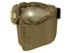 Fan Vented Pro Goggle Full Face Mask (Tan)