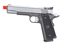 MetalTac 1911 High-Capacity Full Metal Gas Blow Back Airsoft Gun (Silver)