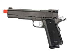 MetalTac 1911 High-Capacity Full Metal Gas Blow Back Airsoft Gun (Grey)