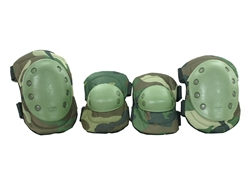 Protective Knee Pads & Elbow Pads Airsoft Protection Gear (Woodland Camo)